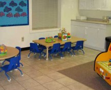 Snack Table in Toddler Room